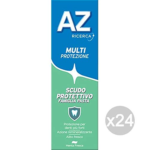 AZ Set 24 Teeth Green Paste Shield Family Classic Hygiene and Tooth Care, Multicoloured, One Size by A - Z