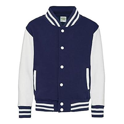 Kid's Varsity Jacket COLOUR Oxford Navy/White SIZE 12 TO 13