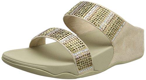 Sandals Oro Flare Punta Fitflop Strobe Sandali 10 Donna Gold Aperta Slide qUaatw8