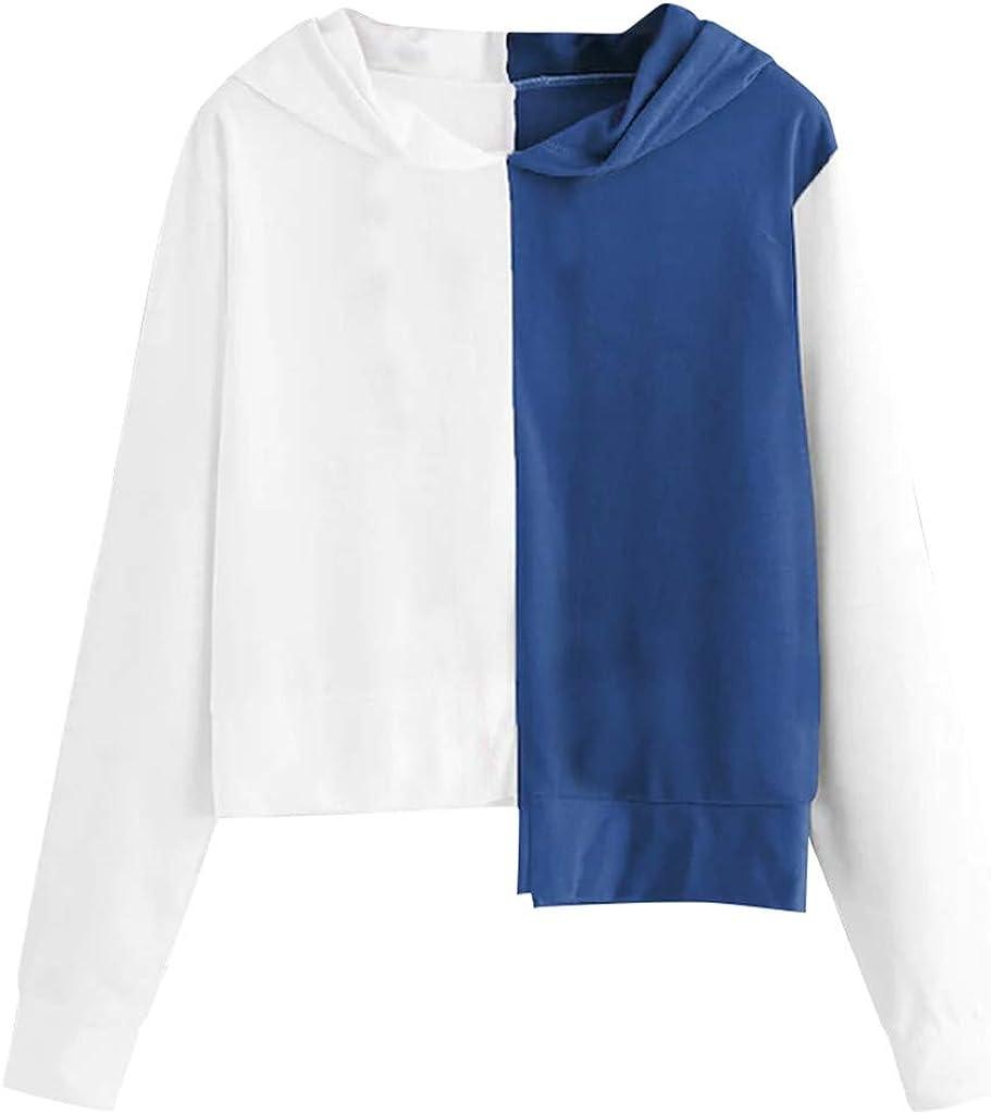 Linkay - Camiseta de Manga Larga para Mujer, Estilo otoño, Informal, con Capucha, Estilo 2019 Azul M: Amazon.es: Ropa y accesorios