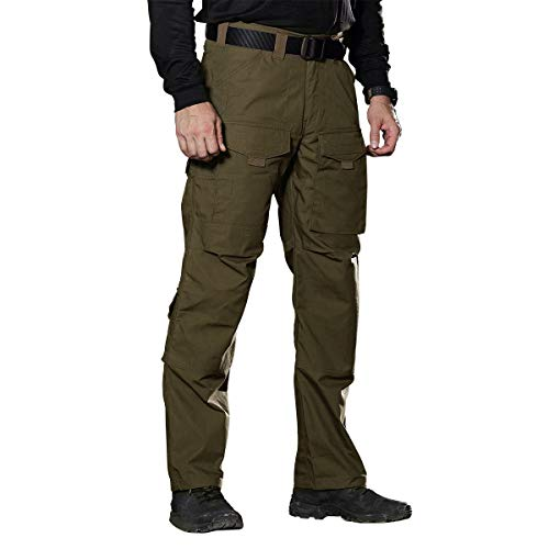 - FREE SOLDIER Outdoor Men Teflon Scratch-Resistant Pants Four Seasons Hiking Climbing Tactical Trousers(Dark Green 38W/32.5L)