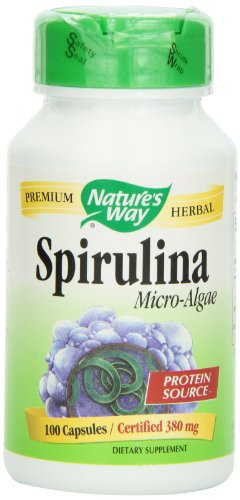 Natures Way Spirulina Capsules 380 mg 100-Count