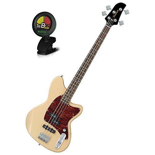 (Ibanez TMB100IV Ivory Talman Bass Series Electric Bass w/ Tuner)