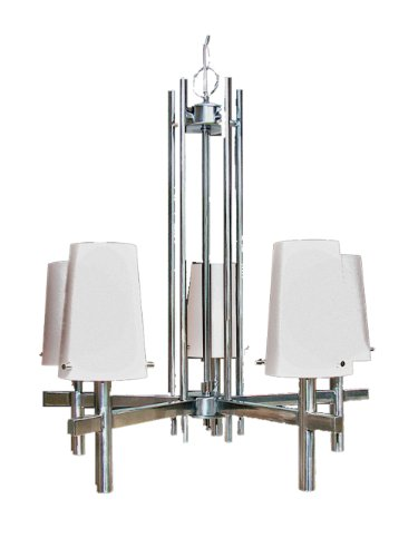 Marquis Lighting 20705-207-SCH Chandeliers with Satin Opal Glass Shades, Satin Chrome