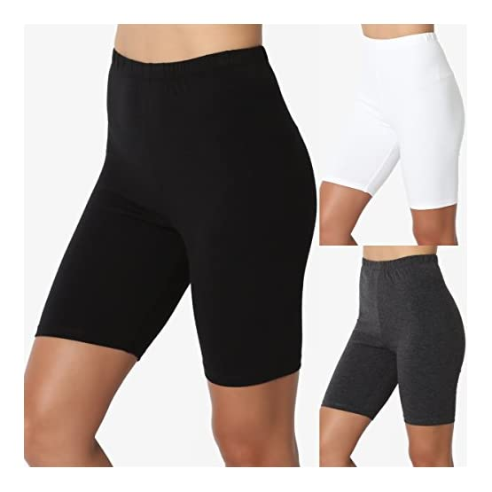 a430d113a9487c Home / Sports and Outdoors / Sports and Fitness / Clothing / Active /  Active Pants / TheMogan Mid Thigh Stretch Cotton Span High Waist Active  Bermuda Short ...