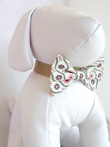 Pinky Daisy - Hand Stitched Dog Cat Pet Bow Tie Bowtie Collar Accessory