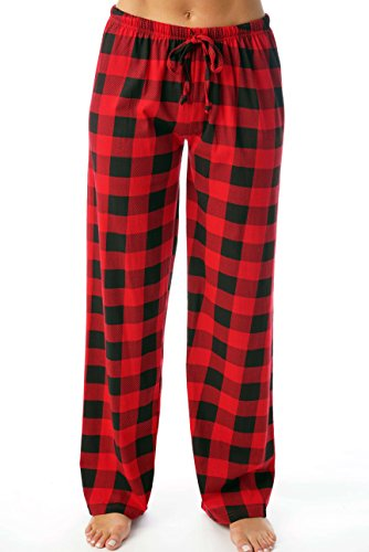 Just Love Women Pajama Pants Sleepwear 6324-10195-RED-XL (Checked Pajama Flannel Pants)