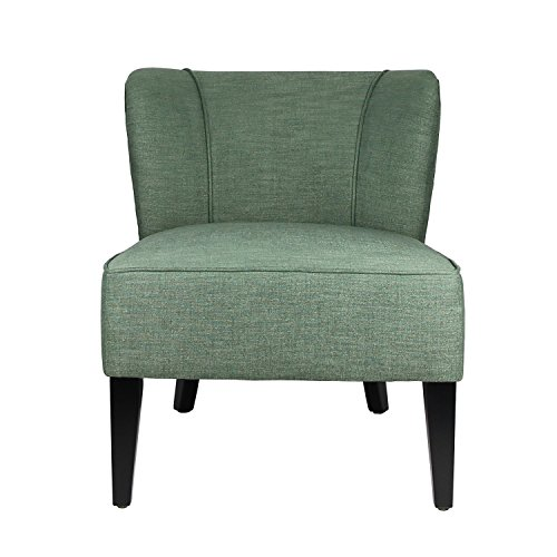 Living Room Club Chair, Home's Arts upholstered Fabric Tufted Arm Chair (Green)