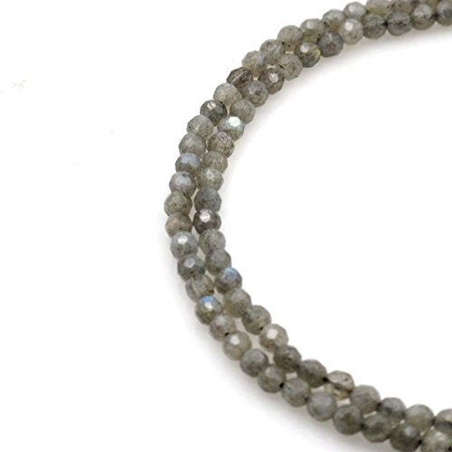 Labradorite Pendant Bracelet - BRCbeads Gorgeous Natural Faceted Labradorite Gemstone Round Loose Beads 4mm Approxi 15.5 inch 95pcs 1 Strand per Bag for Jewelry Making