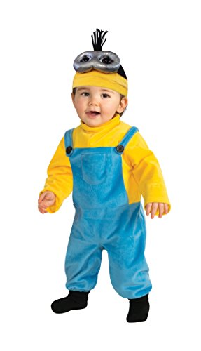 Rubie's Costume Co Baby Boys' Minion Kevin Romper Costume, Yellow, 3-4 (Family Halloween Costumes With Toddler)