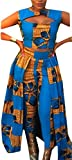 Gocgt Women's Africa Print Crop Top and Pants Two-Piece Dress As Picture S