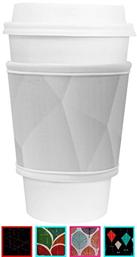 MOXIE Cup Sleeves - Premium Insulated Reusable Cup Sleeve for Coffee, Tea & Cold Drinks - One size fits all (Moonrock)