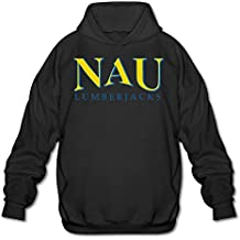 POOZ Men's Northern Arizona NAU Logo Sweatshirt Black