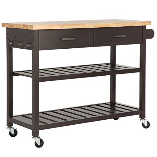Homegear Open Storage Kitchen Storage Cart Island