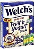 Welch's Blueberry Fruit'n Yogurt Snacks,2-Pack, 16-0.8oz pouches by Welch's