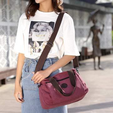 Womens Bags Handbags - Canvas Shoulder Bags Summer Shopping Bags Handbag - 1x Bag Black