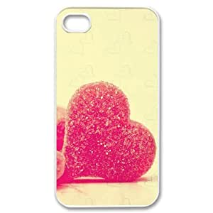 IPhone 4/4s Case, Love 6 Picture Luxury Case for IPhone 4/4s {White}