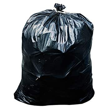 Toughbag 42 Gallon Contractor Trash Bags, 3.0 Mil, 50/Case Garbage Bags (Black)