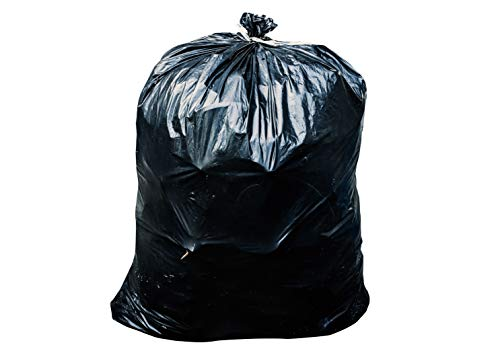65 Gallon Trash Bags for Toter (Black, 50 Garbage Bags Per Case) ()