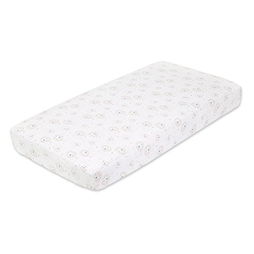 Crib Sheet, 100% Cotton Muslin, Super Soft, Breathable, Tailored Snug Fit, Leader Of The Pack - Lions (Anais Crib Sheet)