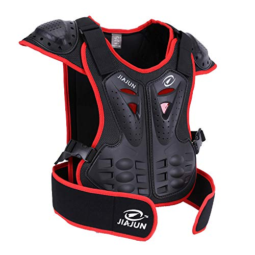JIAJUN Children Bicycle Motorcycle Armor Armor Vest Back Protection Cycling Skiing Riding Skateboarding