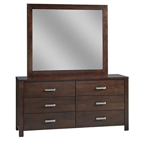 Modus Furniture RV2682 Riva 6-Drawer Dresser, Chocolate Brown ()