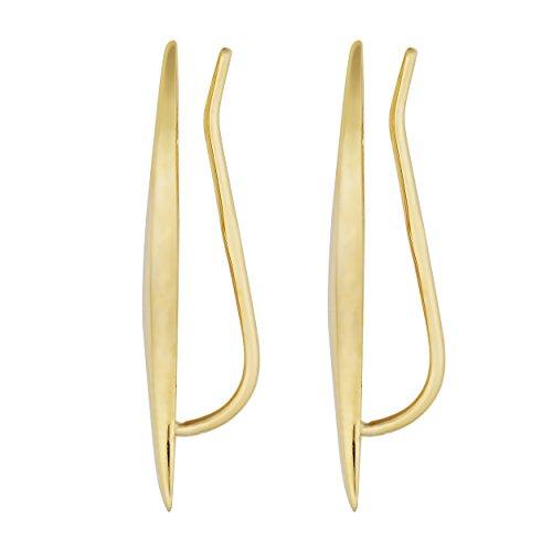 14k Yellow Gold Wave Climber Earrings by Kooljewelry (Image #1)'