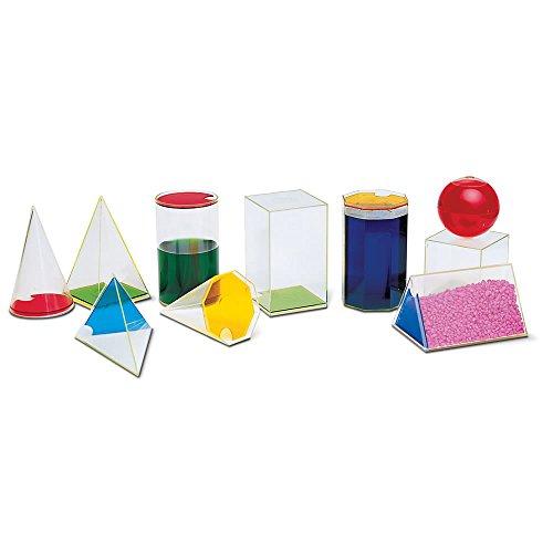 ETA hand2mind, Large Clear Plastic Geometric Volume Models,
