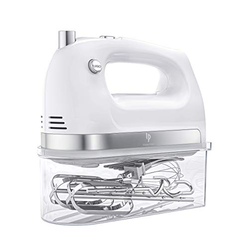 Hand Mixer Electric, 400W Ultra Power Kitchen Mixer Handheld Mixer With 2×5 Speed (Turbo Boost & Automatic Speed…