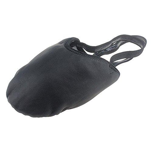 - MSMAX Half Sole Eclipse Leather Ballet Dance Shoe Black Size S