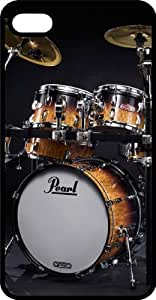 Pearl Drum Set Rock N Roll Black Plastic Case for iPhone 4 or iPhone 4s