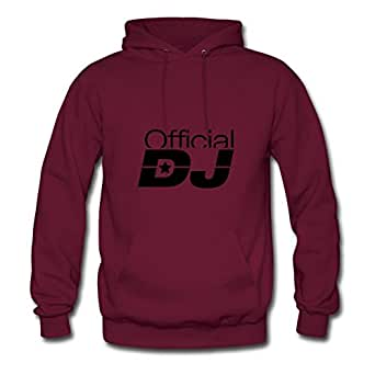 Vintage Official_dj_pa1 Print Customized And Regular Hoody In Burgundy