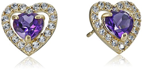 10k-Yellow-Gold-Heart-Birth-Stone-Earrings