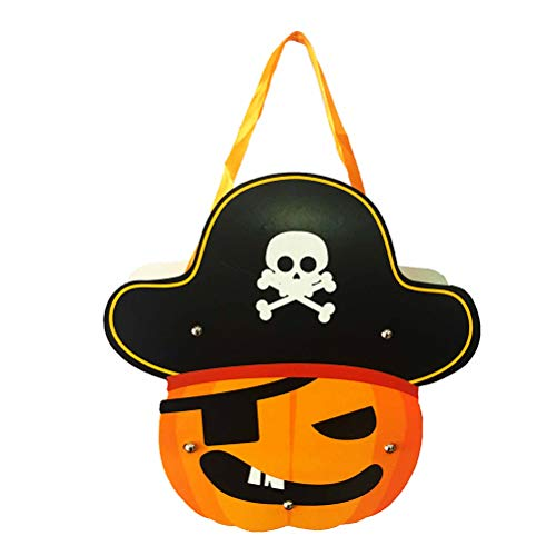 BESTOYARD 2PCS Halloween Trick or Treat Bags Pirate Candy Goodie Tote Bags Candy Holder for Kids Cookies Gifts for $<!--$5.59-->