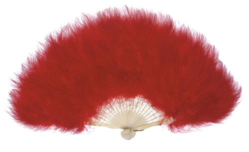 Stave Place (Zucker Feather (TM) - Marabou Feather Fan - Red)