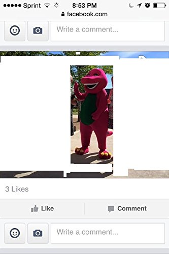 Kooplus Barney Dinosaur Mascot Costume Halloween Costume by Kooplus