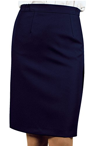 Isacco - Jupe Droite Losanna Bleu Marine Bleu