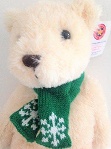 herrington-teddy-bear-cream-green-knit-snowflake-scarf-14-plush-stuffed-animal-toy-cheesecake-factor