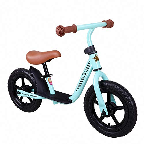 JOYSTAR 12 inch Balance Bike with for Child, Girls & Boys Glider/Slider Bike, No Pedal Bicycle for 2 3 4 5 Years Children, Pedaless Cycle, Green