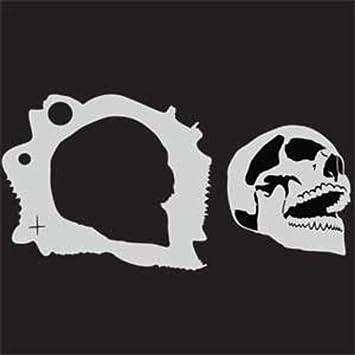 Custom Skull Stencil 7 Up Open Airbrush Template