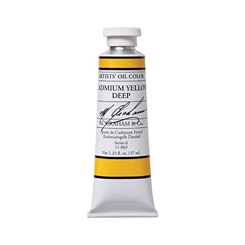 Deep Paint - M. Graham Artist Oil Paint Cadmium Yellow Deep 1.25oz/37ml Tube