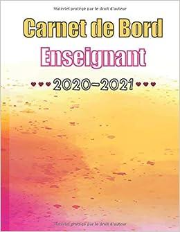 Carde Bord Enseignant 2020 2021: Calendrier de Septembre 2020