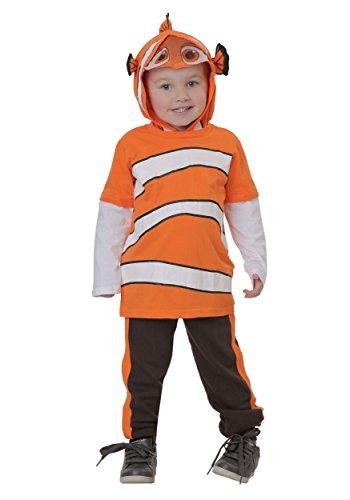(Disney Little Boys' Toddler Nemo 2-Piece Costume Hoodie and Pant Set, Orange,)