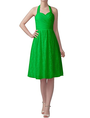 Green Gowns Chiffon Dresses Formal Wedding Bridesmaid Lace Short Halter Party Cdress 7w46vqU4