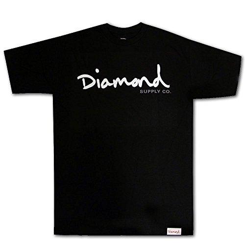 Diamond Supply Co OG Script Premium Cotton T-shirt Black by Diamond Supply Co