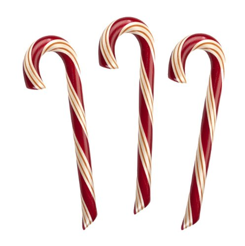 Canes Gourmet Candy (3 Natural Mint Candy Canes, NO Corn Syrup, Hammonds Handmade, 2 Oz, Red/Gold/White Stripe)