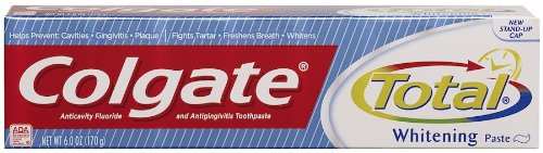 Colgate Total Whitening Paste, Anticavity Fluoride and Antigingivitis Toothpaste Paste, 6 Ounce (170 g) ()