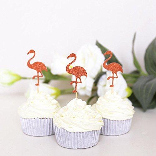 Flamingo-Cupcake-Toppers-Summer-cupcake-topperTropical-birthdayTropical-PartyFlamingo-Party