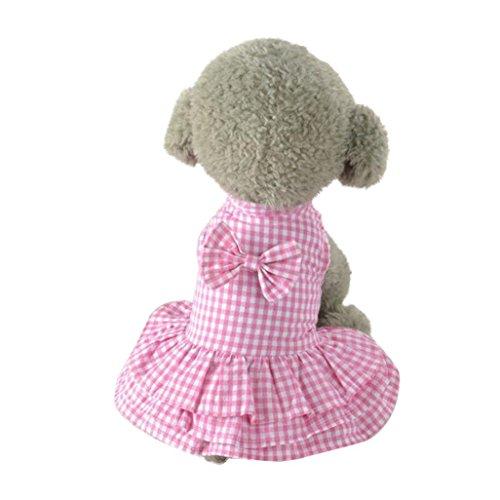 Gotd Cute Sweet Pet Puppy Dog Apparel Clothes Short Skirt Dress (XS, Pink)