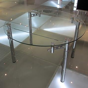 En Rallonge Table CmAmazon Strass Extensible Ronde Verre 120 Ø À v8Nwm0n